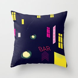 Paris Nightclub Throw Pillow