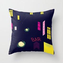Paris Nightclub Throw Pillow