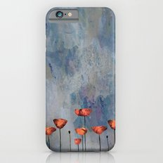 Poppyfield against the blue sky- abstract watercolor artwork Slim Case iPhone 6s