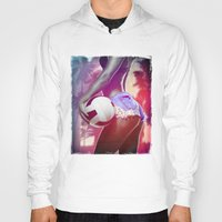 volleyball Hoodies featuring Beach volleyball girl sexy by Swagnation Dopetribe