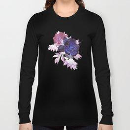 big blue floral Long Sleeve T-shirt