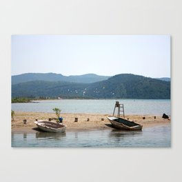 The Kite Surfers Beach Akyaka Turkey Canvas Print