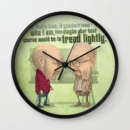 """Tread Lightly"" - Breaking Bad  Wall Clock"
