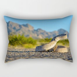 Diamondback at Sunset Rectangular Pillow