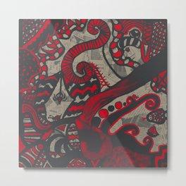 Doodle 4 Metal Print