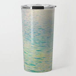 Island in the Attersee Gustav by Klimt Date 1902 // Abstract Oil Painting Water Horizon Scene Travel Mug