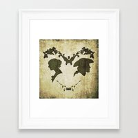 silhouette Framed Art Prints featuring silhouette by Camille