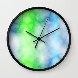 Rainbow marble texture 3 Wall Clock