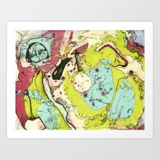 #17 We Went So Fast Our Souls Fell Out Art Print