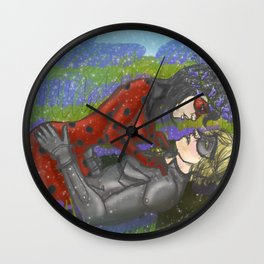 Ladynoir in Bluebells Wall Clock