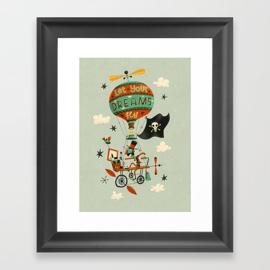 Make Your Dreams Fly Framed Art Print