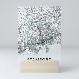 Stamford, CT, USA, City Map Mini Art Print