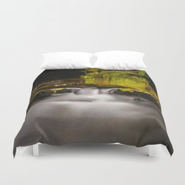 Easy flowing water in autumn Duvet Cover