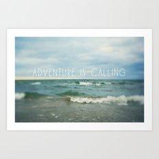 Adventure is Calling - Waves Art Print
