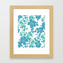 Botanical Blues Framed Art Print