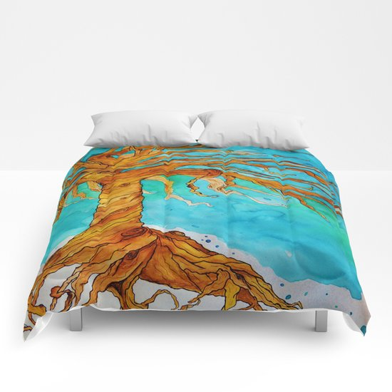 Tree of Life (Saturated Coloring) Comforters