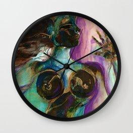 Earth Goddess by Kathy Morton Stanion Wall Clock