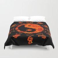 yin yang Duvet Covers featuring Yin yang. by DesignAstur
