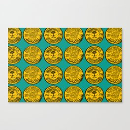 Gold (Blue) Canvas Print