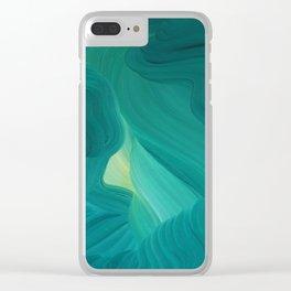 Aquamarine Vista Clear iPhone Case