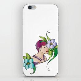 lady flower iPhone Skin