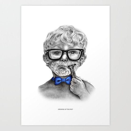Growing up too fast Art Print