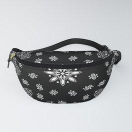 black and white bandana pattern Fanny Pack