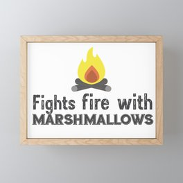 Fights fire with marshmallows Framed Mini Art Print
