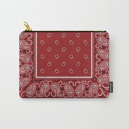 Classic Red Bandana Carry-All Pouch