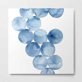 Watercolor Circles Painting Metal Print