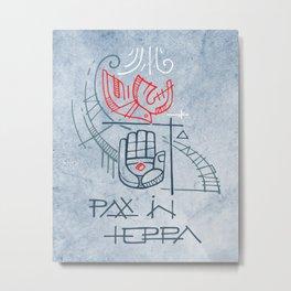 Religious christian symbols and phrase Metal Print
