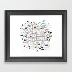 Love Map Framed Art Print
