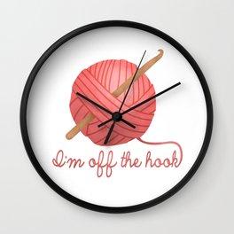 I'm Off The Hook Wall Clock