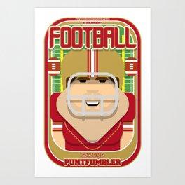 American Football Red and Gold - Enzone Puntfumbler - Bob version Art Print
