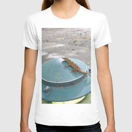 Watercolor People in Nature, AaP, Construction 01, and Lizard, St John, USVI T-shirt