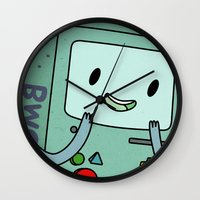 bmo Wall Clocks featuring BMO by Kyrsten Carlson