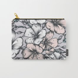 Floral vector hand drawn seamless pattern with flowers  Carry-All Pouch