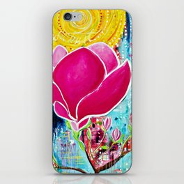 STAINED GLASS MAGNOLIAS iPhone Skin