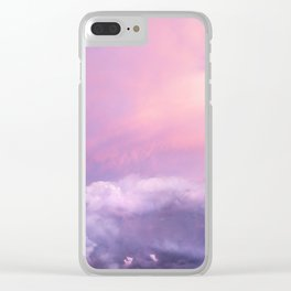 Sunset and Clouds   Blush Pink   Unicorn   Sky Clear iPhone Case