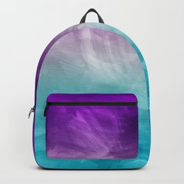 Purple Aqua Teal Ombre Pattern Watercolor Painting Backpack