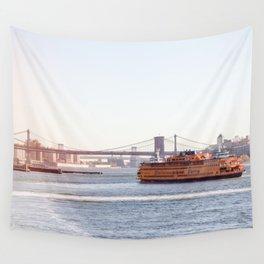 Staten Island Ferry to Manhattan Wall Tapestry