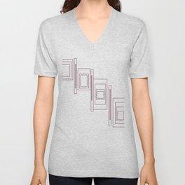 Chic design blocks, white Unisex V-Neck