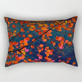 furious red leaves Rectangular Pillow