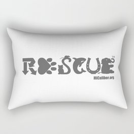 Rescue Gray Rectangular Pillow