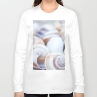 shells Long Sleeve T-shirts featuring Shells by Daisy Thijssen