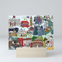 The Queen's London Day Out Mini Art Print