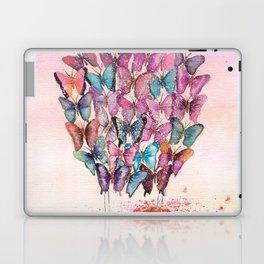 Butterfly Hot Air Balloon Illustration. Laptop & iPad Skin
