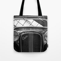 car Tote Bags featuring Car by Veronika