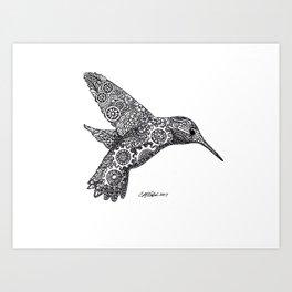 Clockwork Hummingbird Art Print