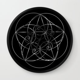 The sacred geometry Wall Clock
